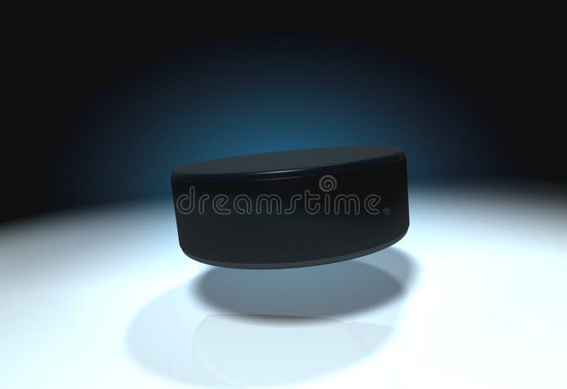 Disco di gomma di hokey del ghiaccio illustrazione di stock