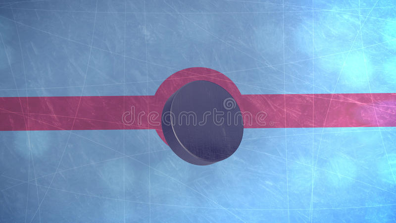 disco di hockey 3D illustrazione di stock