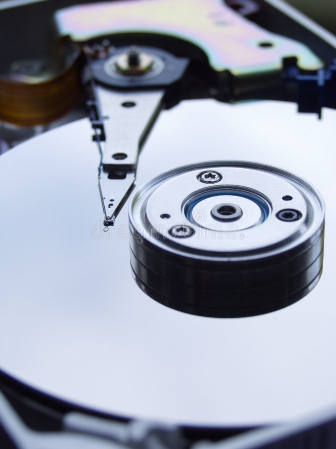 Disco di memoria di dati fotografia stock