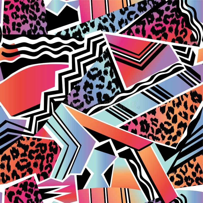 Disco dierlijke achtergrond stock illustratie