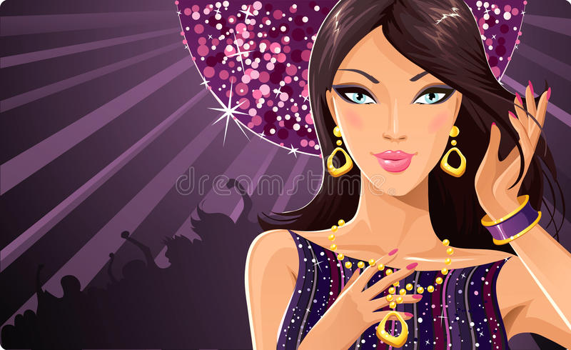 Disco diva royalty free illustration