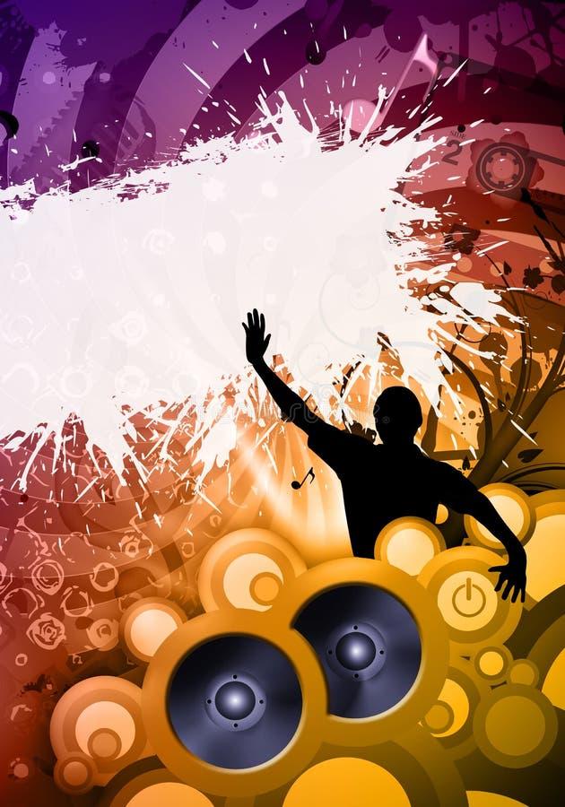 Disco DJ ilustración del vector
