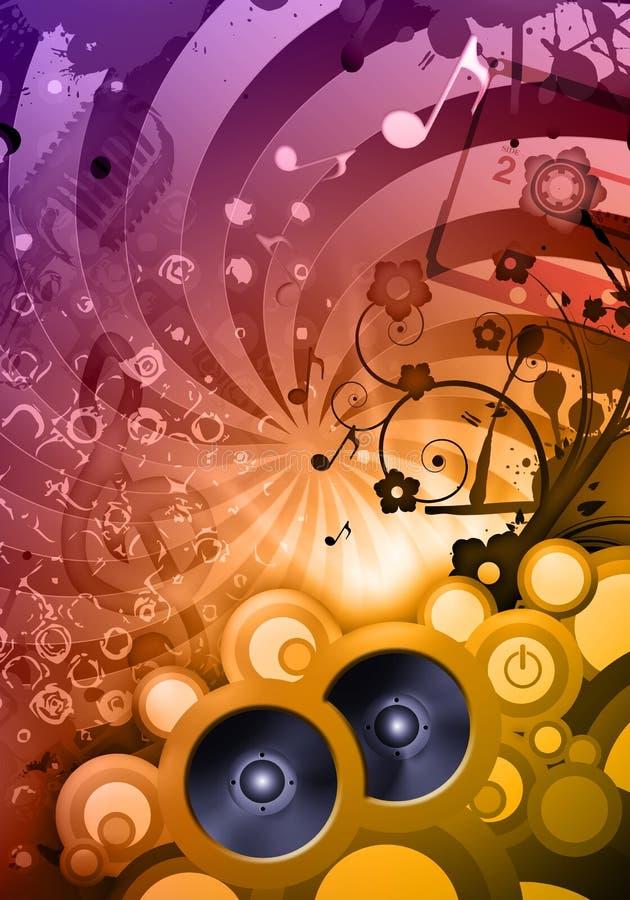 Disco DJ stock de ilustración
