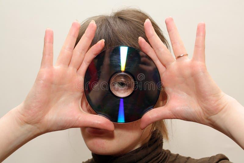 Disco do CD do blanc da calha imagens de stock