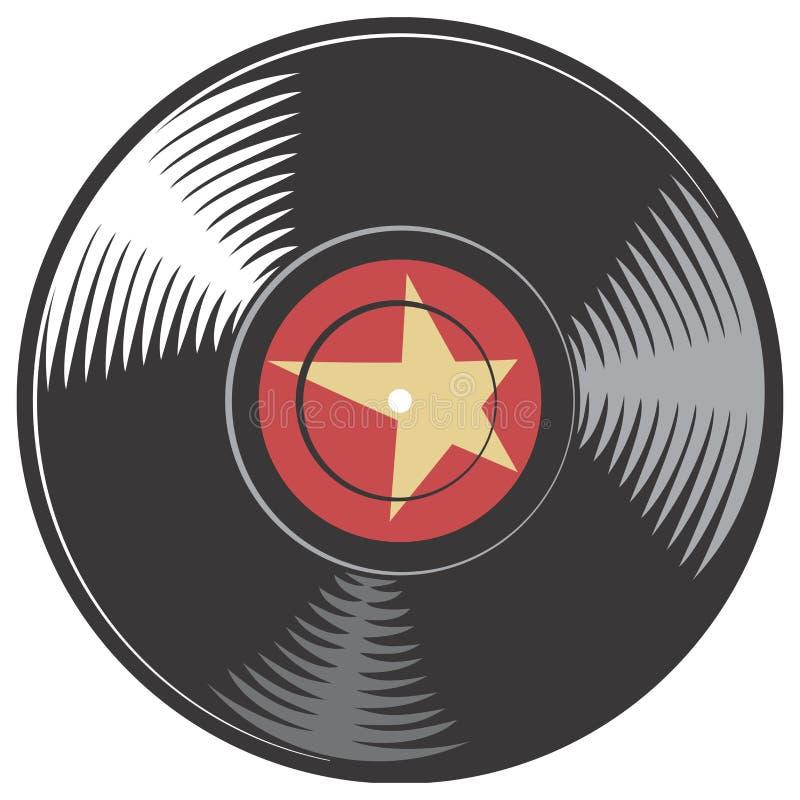 Disco do vinil do vetor ilustração stock