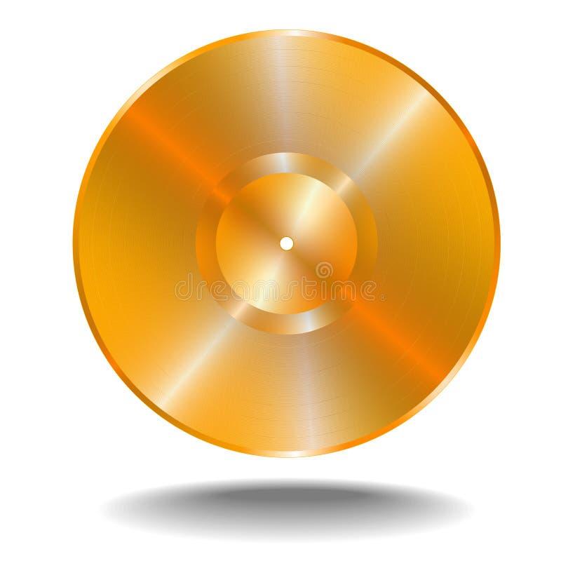 Disco dorato di vinil royalty illustrazione gratis
