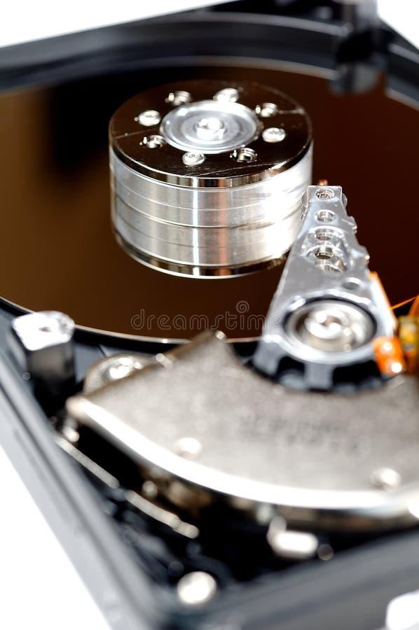 Disco duro abierto del ordenador foto de archivo libre de regalías