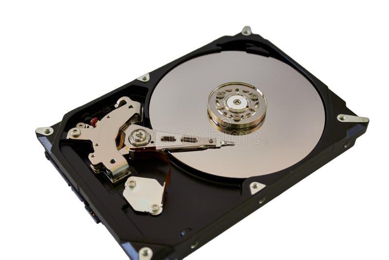 Disco duro colorido desmontado del ordenador foto de archivo