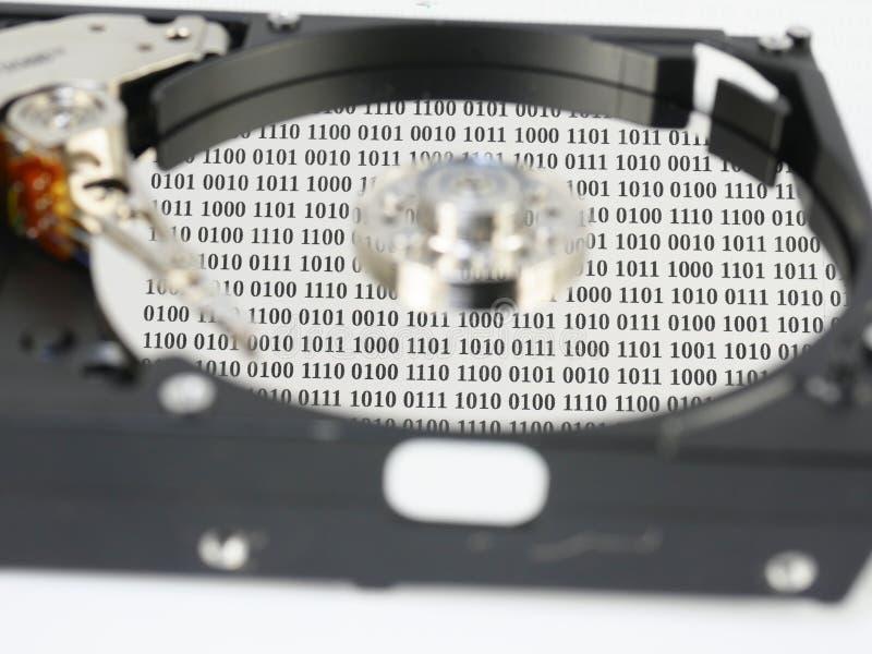 Disco duro con datos fotografía de archivo libre de regalías
