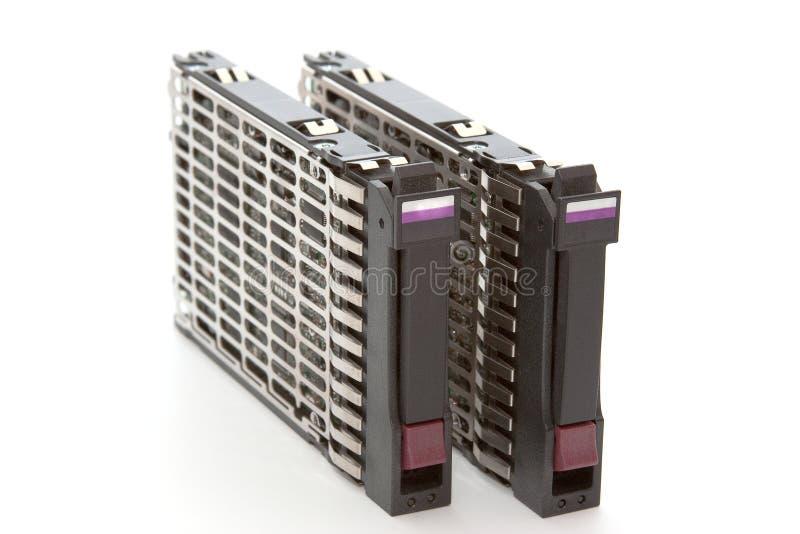 Disco duro de dos servidores imagenes de archivo