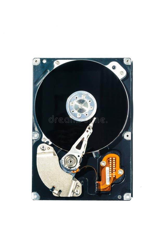 Disco duro para el ordenador en fondo blanco aislado imagenes de archivo