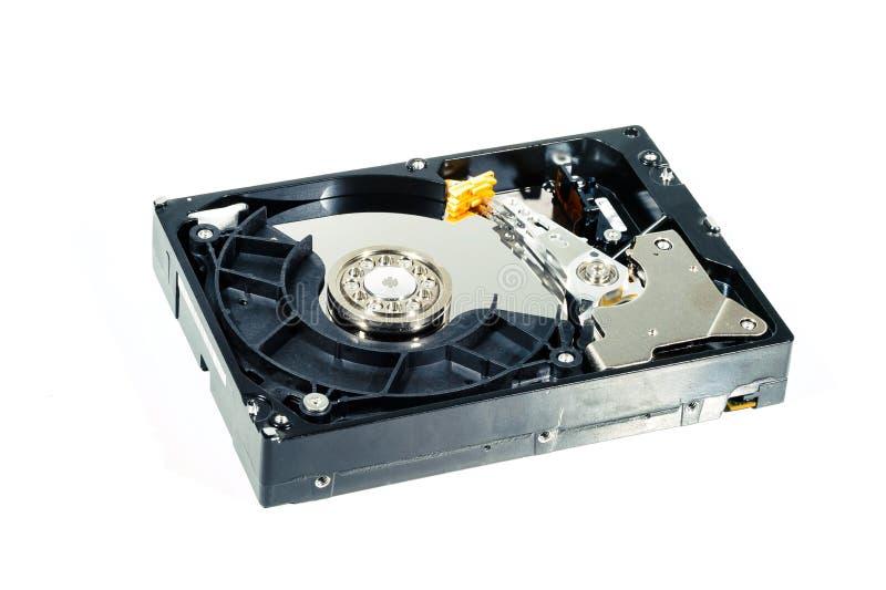 Disco duro para el ordenador en fondo blanco aislado fotos de archivo