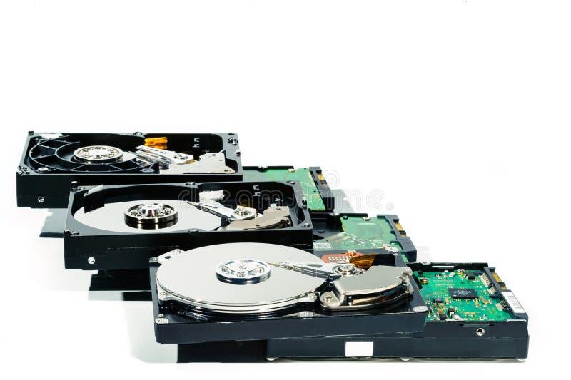 Disco duro para el ordenador en fondo blanco aislado imagen de archivo libre de regalías