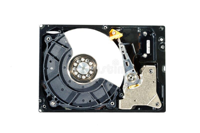Disco duro para el ordenador en fondo blanco aislado fotografía de archivo