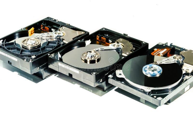 Disco duro para el ordenador en fondo blanco aislado imagen de archivo