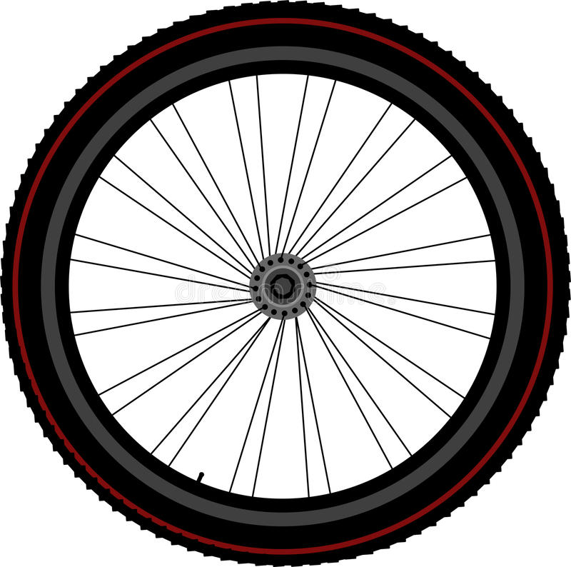 Disco ed attrezzo del pneumatico di rotella della bici illustrazione di stock