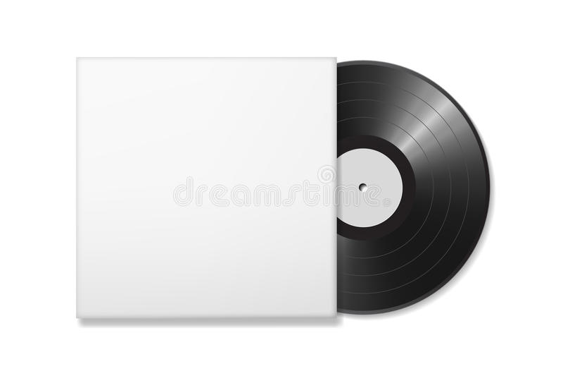 Disco en blanco del vinilo ilustración del vector