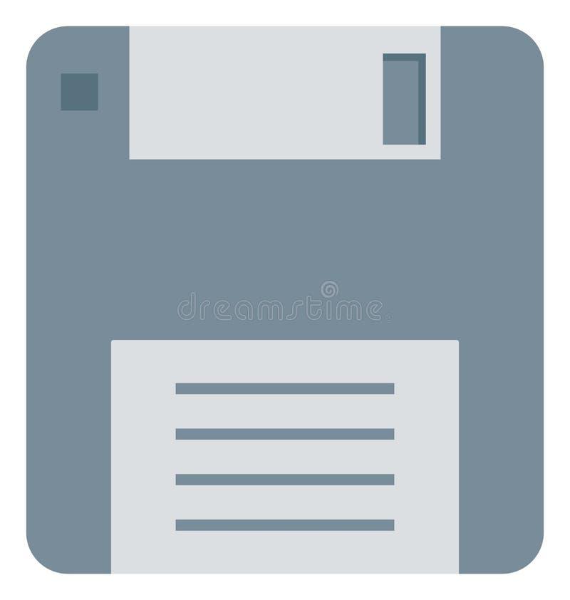 Disco floppy, disquetera, icono del disco blando del vector editable stock de ilustración