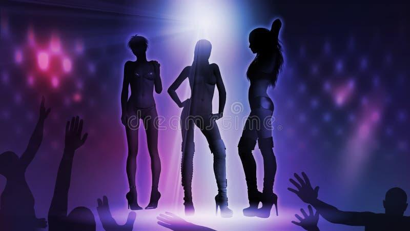 Disco-Frau stock abbildung