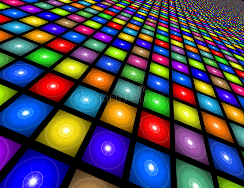 Disco-Fußboden-Abbildung stock abbildung