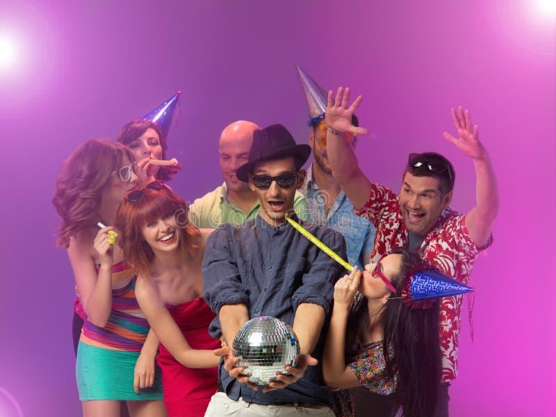 Disco-Geburtstagsfeier stockfoto
