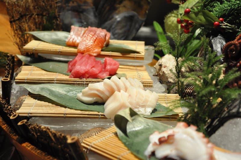 Disco giapponese dei sushi fotografie stock libere da diritti