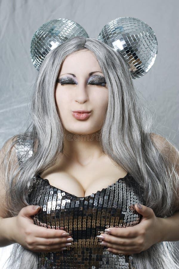 Free Disco Girl Royalty Free Stock Photo - 13932485