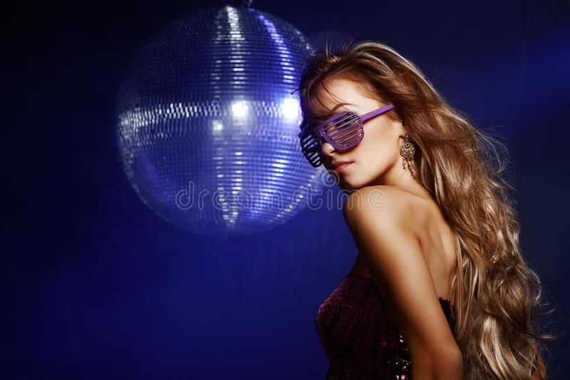 Download Disco girl stock photo. Image of attractive, happy, blue - 22835130