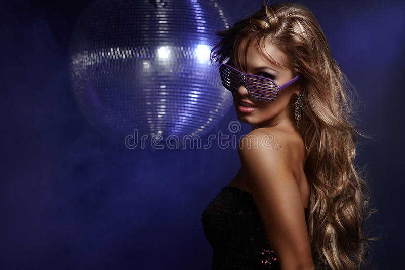 Disco girl royalty free stock photography