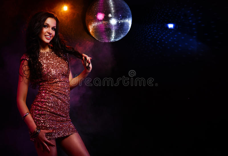 Download Disco girl stock photo. Image of glitter, lifestyle, mirrorball - 28646290