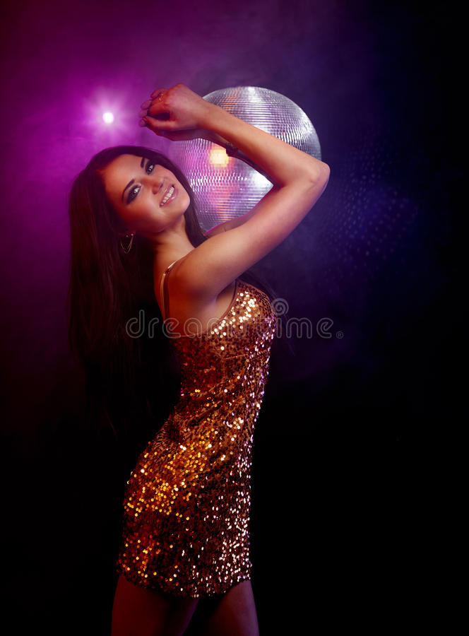 Download Disco girl stock image. Image of happy, lounge, bling - 28734125
