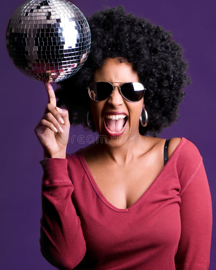 Free Disco Girl Royalty Free Stock Photography - 8153827
