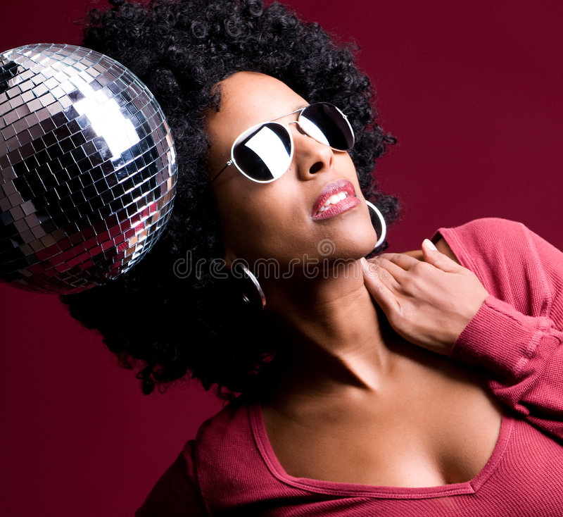 Disco girl royalty free stock image