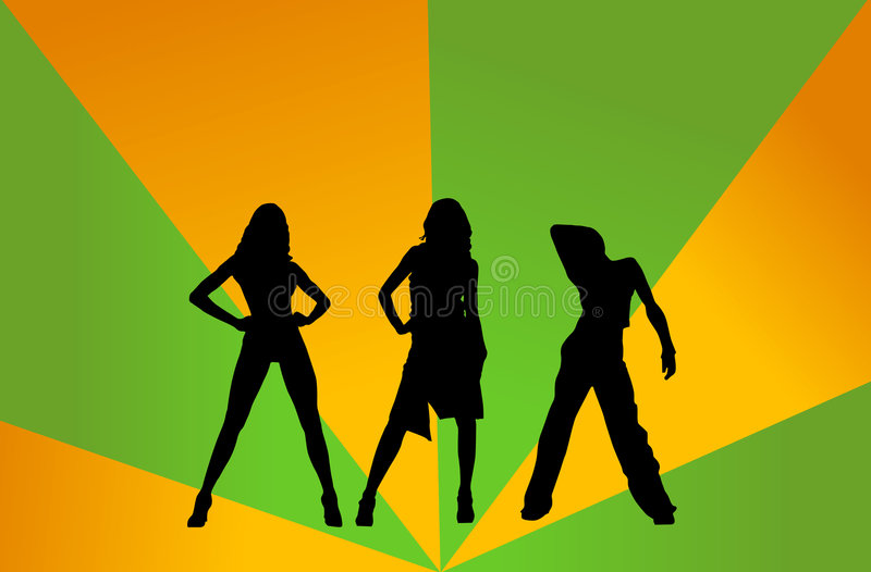 Download Disco girls stock illustration. Illustration of abstract - 1368920