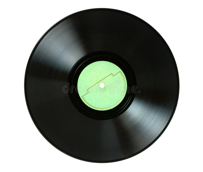 Disco grammofonico fotografie stock