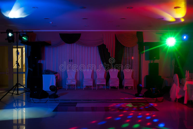 Disco in hall stock photos