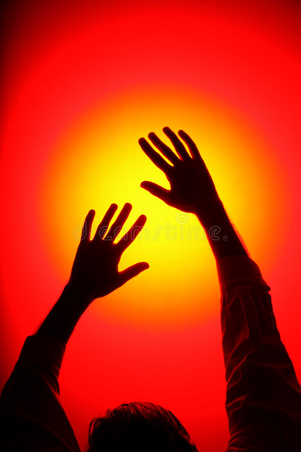 Disco Hands royalty free stock photos