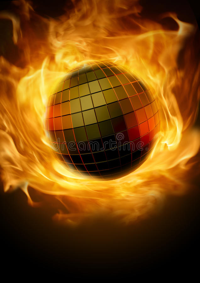 Download Disco inferno stock illustration. Illustration of music - 27057262