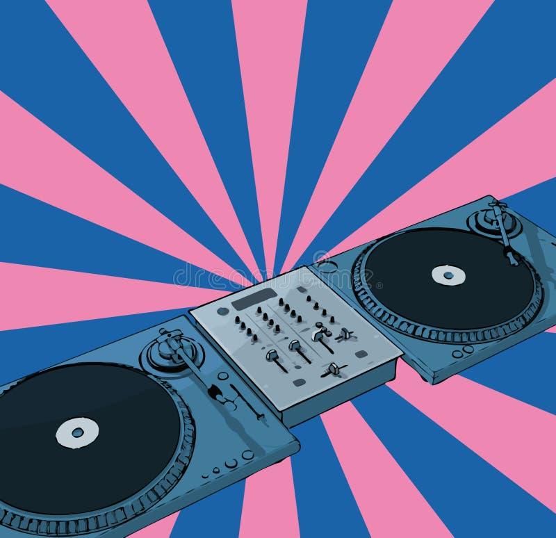 Disco-jóquei retro ilustração do vetor