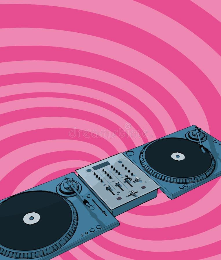 Disco-jóquei retro ilustração stock