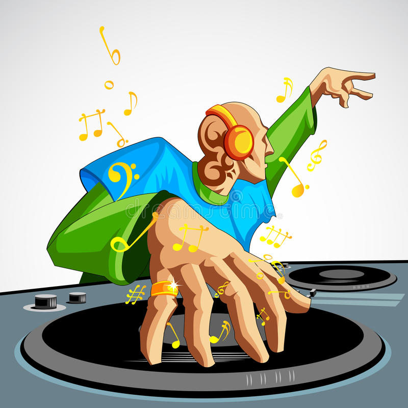 Download Disco Jockey stock vector. Image of headphone, male, control - 26453475