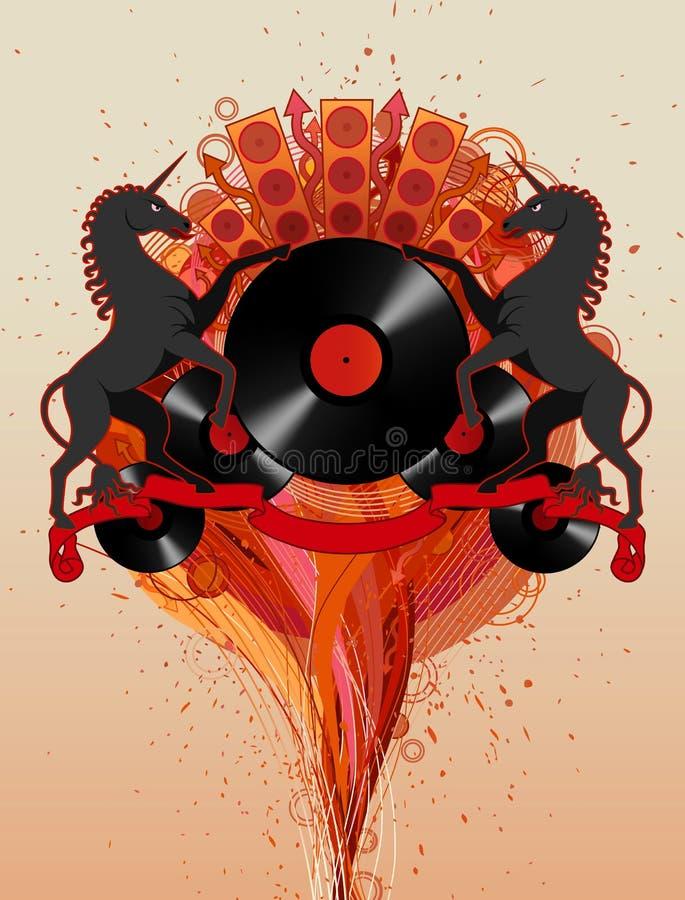 disco koni ilustracji