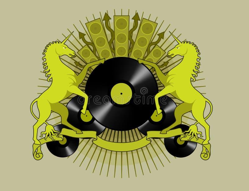 disco koni ilustracja wektor