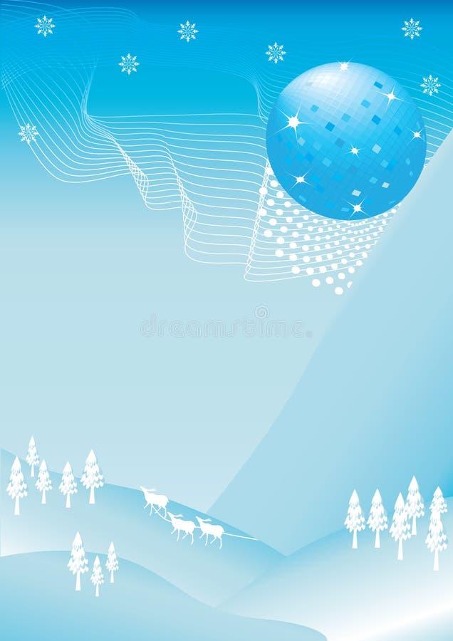 Disco-Kugel, die im Dezember fällt vektor abbildung