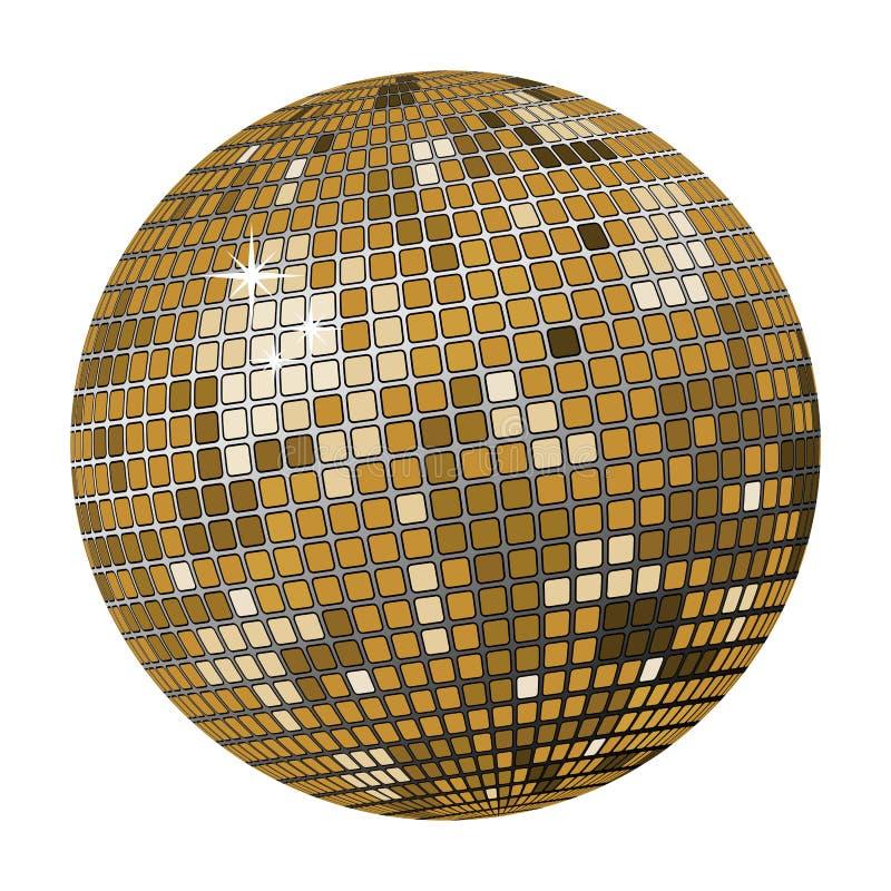 disco kulowego złoto ilustracja wektor