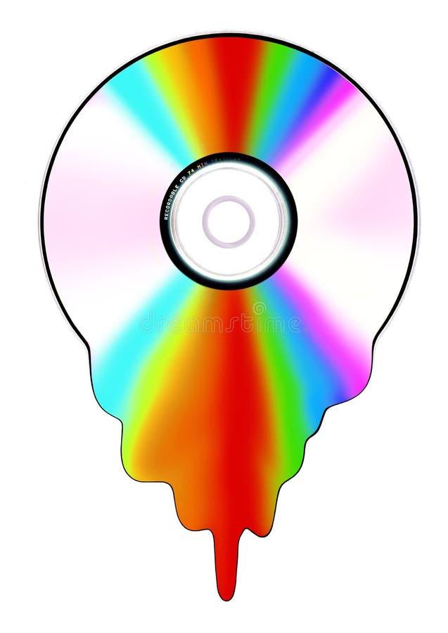 Disco líquido ilustración del vector
