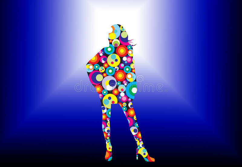 Disco lady royalty free illustration