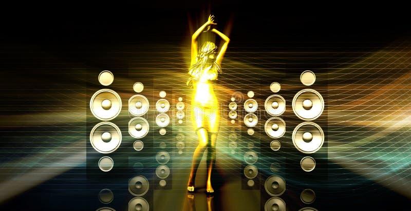 Disco Lady stock illustration