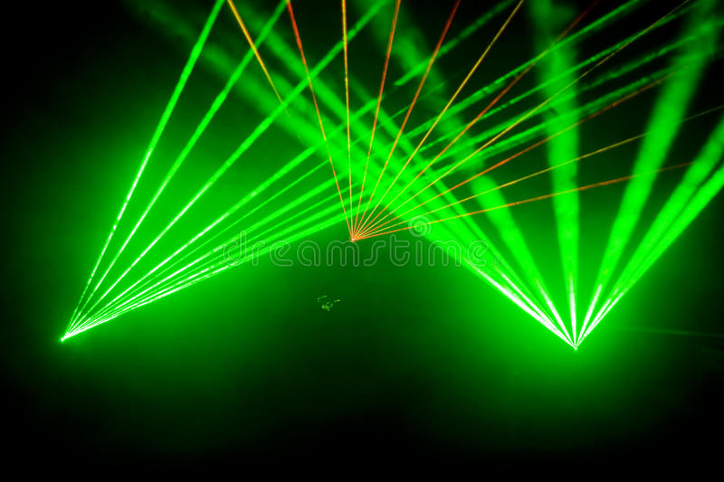 Disco and laser show royalty free stock photography