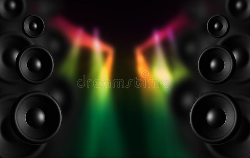 Disco-Lautsprecher vektor abbildung